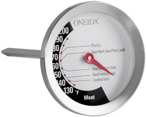 ONEIDA 21001 Large Dial Meat Thermometer, Silver