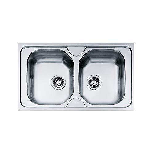 FRANKE Lavello Onda cm 86x50 2 vasche OLN 620-86 inox