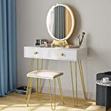 Vanity Table Set with 3 Color...