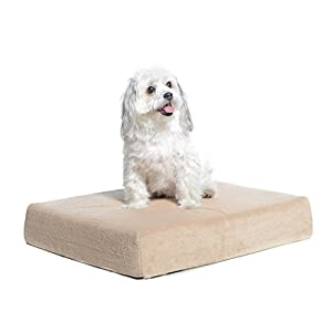 Milliard Premium Orthopedic Memory Foam Dog Bed with Removable Waterproof Washable Non-Slip Cover – Small – 24 inches x 18 inches x 4 inches