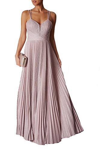 Mascara zacht roze MC166137 strappy geplooide parkle jurk