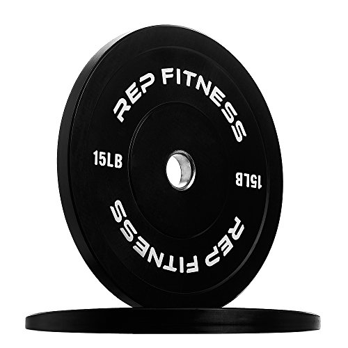 REP FITNESS Colored Bumper Plates for Strength and Conditioning...