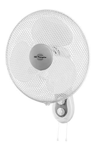 Orbegozo WF 0139 Wand-Ventilator, Leistung 45W, 3Geschwindigkeitsstufen, Durchmesser Propeller 40cm, Weiß