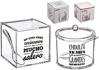dcasa - Salero y azucarero de cocina original acrilico dise