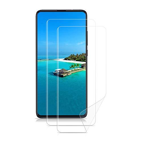 LONROL Schutzfolie für Xiaomi Redmi K20 Pro Hydrogel Flex Folie Vollständige Deckung Weiche HD Anti-Fingerprint Hohe Empfindlichkeit Bildschirmschutzfolie für Xiaomi Redmi K20 Pro/Xiaomi Mi 9T [2-Pack]