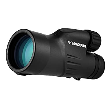 Wingspan Optics Titan 12X50 High Powered Monocular Scope. Optimal Brightness and Clarity. Durable. One Hand Focus. Waterproof. Fog Proof. Specially Designed for Bird Watching, Nature Watching, Hunting