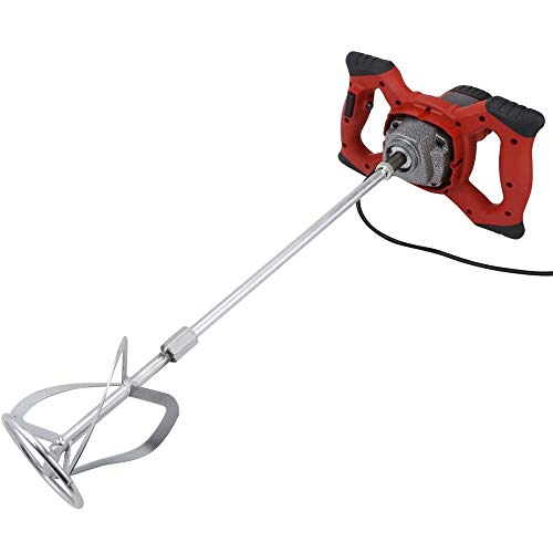 HJJ Electric Handheld Mixer Machine, Portable Cement Stirrer 6 Speed Adjustment Fast Mixing, for Mortar Paint Grout Concrete 2100W