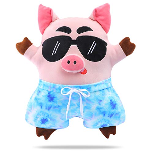 DRMOOD Animal Stuffed Pillows Cute Plush Pig Pillow Kids Soft Plush Toy Gifts for Birthday,Christmas,Pink,18.5inch
