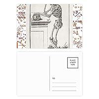 人間の身体装飾の骨格パターン 公式ポストカードセットサンクスカード郵送側20個