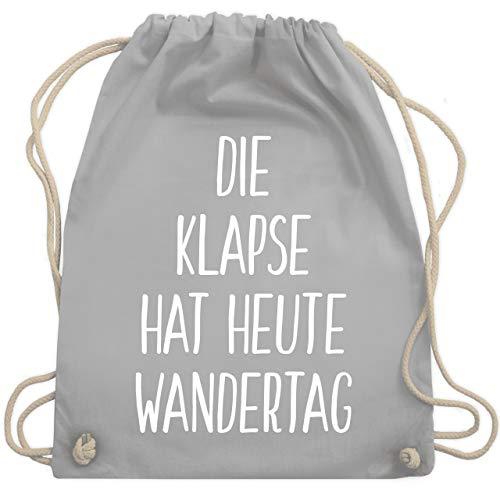 Shirtracer Festival Turnbeutel - Die Klapse hat heute Wandertag - Unisize - Hellgrau - krankenschwester beutel - WM110 - Turnbeutel und Stoffbeutel aus Baumwolle