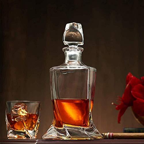 Jarra de whisky 800 ml ANTER DE WHISKEY CON 320 ml Conjunto de vidrio de vodka de 7, Oficina de fijación de Licor de Licor Personalizada Oficina o Para Hombres Botella de Vino Para Bourbon Whisky Rega