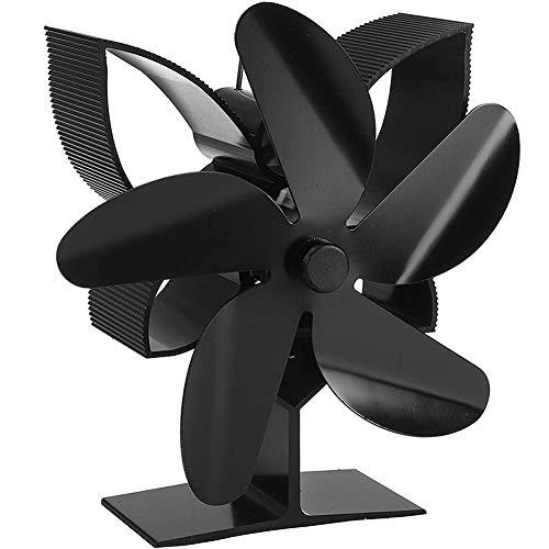 EastMetal Ventilador de Estufa 5 Palas, Ventilador de Chimenea Energía Térmica, Mudo Diseño- Diseño Ecológico- Circulación de Aire Caliente- Cal