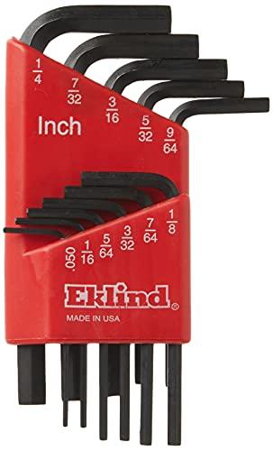 EKLIND 10111 Hex-L Key allen wrench - 11pc set SAE Inch Sizes .050-1/4 Short series