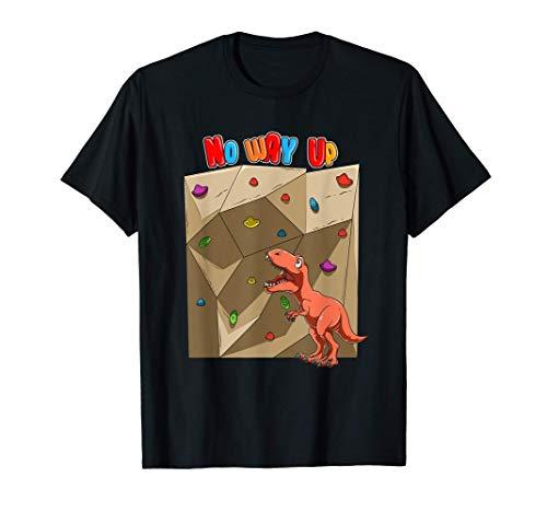 Lustiger T-Rex - Boulder Klettern T-Shirt