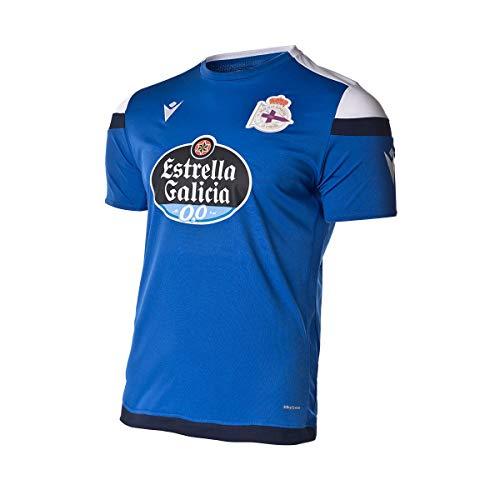 Macron RC Deportivo La Coruña Player Training 2020-2021, Camiseta, Blue-White, Talla L