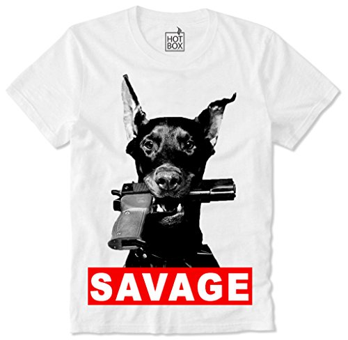 Hotbox T Shirt Savage Gun Dog Rottweiler L