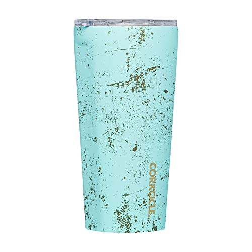 Corkcicle 16oz Tumbler - Classic Collection - Triple Insulated Stainless Steel Travel Mug, Bali Blue