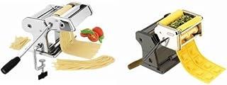 Ibili - Máquina para pasta fresca, 21,4 x 17,8 x 14 cm + accesorio de raviolis