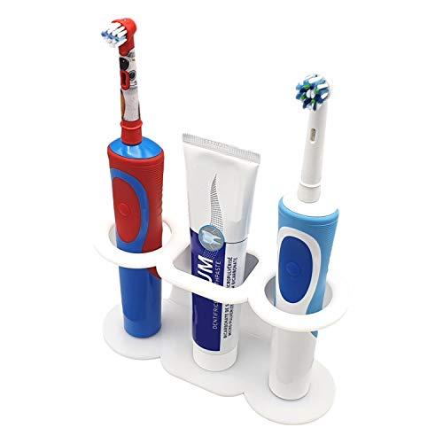 SmartProduct Selbstklebende Zahnbürstenhalter für 2 Elektrische Zahnbürste und 1 Zahnpasta, Model A