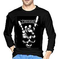メンズ Tシャツ 長袖 無地 秋服 シャツ カットソー Metallica メタリカ 薄手 軽い 柔らかい 人気 快適 春夏秋冬 カジュアル 学校 野外活動 トレーニング 日常着