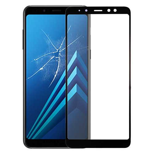 YichAOYA Professioneel reparatie-display, Wuzpx, voor en buiten, glazen lens voor Galaxy A8 (2018) (zwart)