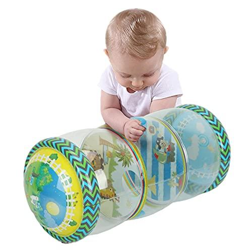 primrosely Cojín para bebé multifuncional con relleno suave para fitness, juguete de apoyo con juguetes multisensoriales, ideal para jugar en posición abdominal.