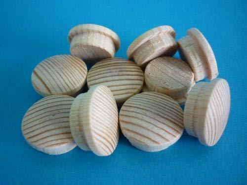 1 Packung Holz Abdeckkappen 6015 Fichte 15 mm