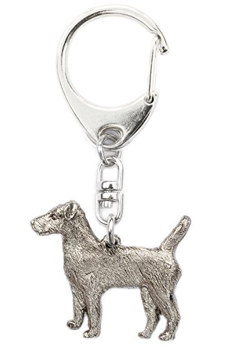 Patterdale Terrier Made in U.K Artistic Style Dog Key Ring Collection