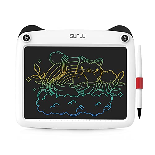 SUNLU Tableta de Escritura LCD, Dibujo y Escritura para niños y Adultos, Papel de Escritura a Mano para Oficina, Escuela, hogar (9 Pulgadas White)