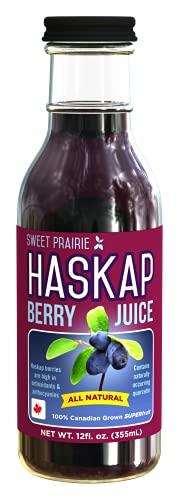 Sweet Prairie Haskap   Pure Haskap Juice   Potent All Natural Antioxidant Extract   High Polyphenol Concentration   12 Servings, 12oz