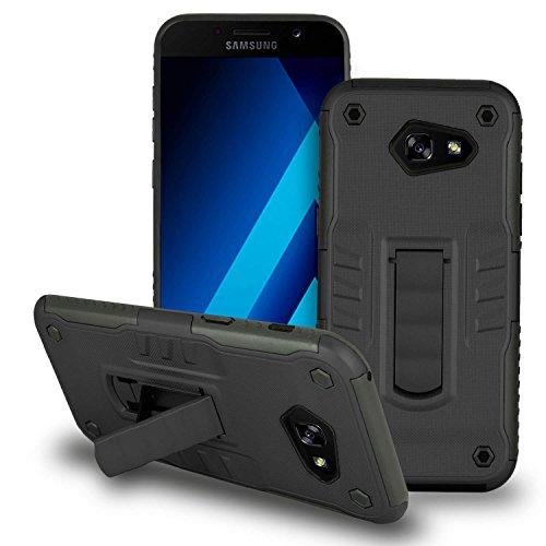 Hardcase voor Samsung Galaxy A7 (2017) standaard beschermhoes in zwart