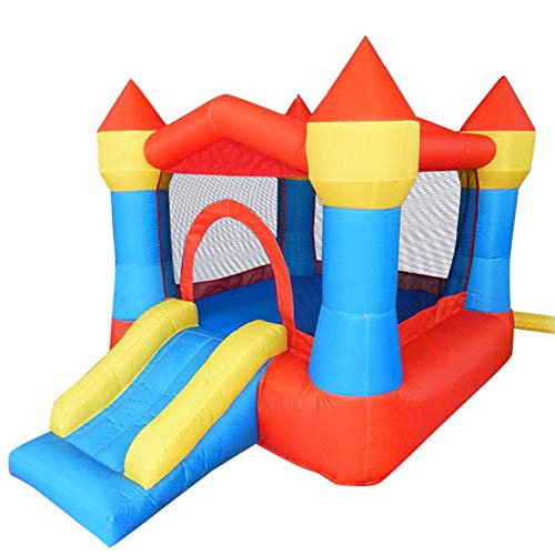 Inflatable Bounce House, Jumping Bouncing Castle Indoor/Outdoor, Children's Family Playground with Slide, Adjust Your Child's Athleticism