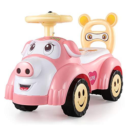 Voiture pour Enfants Twist avec Musique Slide Yo Car Baby Voiture à Quatre Roues pour Tout-Petits 1-3 Ans Baby Toy Poussette FANJIANI (Couleur : Rose)