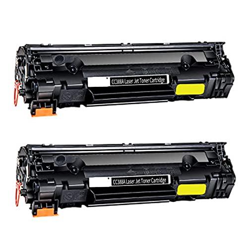 GYYG Reemplazo de Cartucho de tóner Compatible para HP 88A CC388A para HP P1007 P1008 P1106 P1108 M1213 M226DW Impresora con electrónica de Oficina de Chips, Tambor Fotos 2-Black