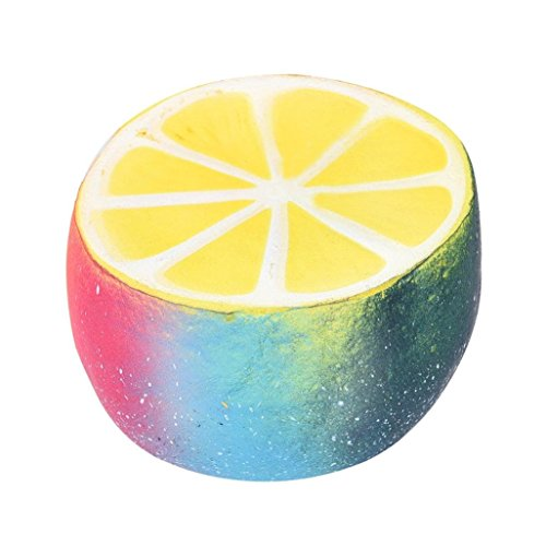 Drfoytg Stress Reliever Toys Lemon Squishy Toy Fun Decompression Slow Rising Squeeze Cream Scented Fruits (Multicolor)