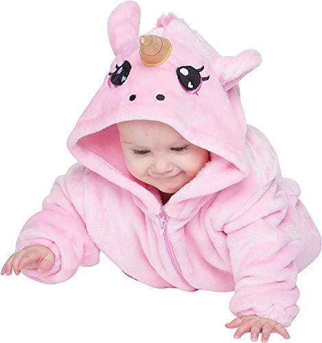 corimori 1850 Rose das Einhorn Baby Neugeborenen Onesie Jumpsuit Strampler Anzug Kostüm Verkleidung (60-70 cm), Rosa