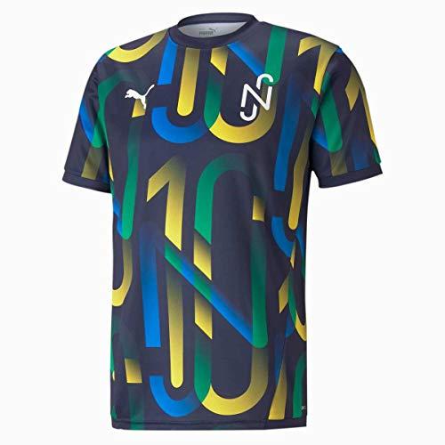 PUMA Neymar Jr Future T - Camiseta para Hombre, Azul (Peacoat-Dandelion), L
