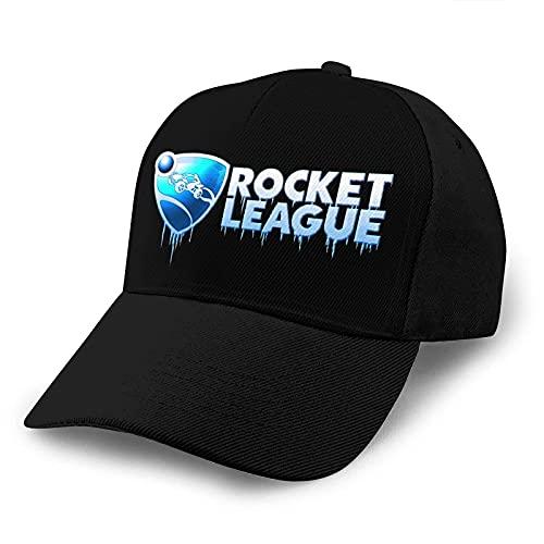 N \ A Gorra de béisbol Rocket Cool League Unisex ajustable Gorra de béisbol retro de moda Street Baloncesto borde curvo gorra de béisbol negro