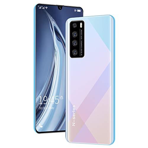 LINGZE Smartphones 4G, móvil Desbloqueado, teléfonos Android con Doble SIM y batería Grande de 4080 mAh, Pantalla Completa de 6,5 Pulgadas, Android 10, Blanco