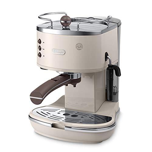 Espressomaschinen Półautomatyczny ekspres do kawy w stylu retro z małym ciśnieniem pompki, kolor fortepianowy, ręczny melken (kolor: biały, wymiary: 26 x 23 x 30 cm)