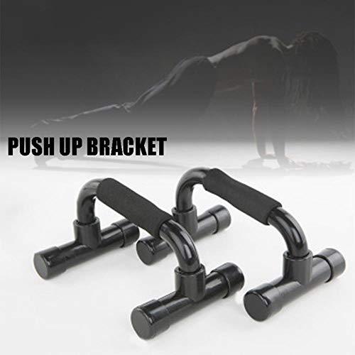 TTZY 1 paire de barres de Musculation barres de Musculation Support antidérapant pour l'entraînement de Fitness à Domicile Ya88, Noir, Chine