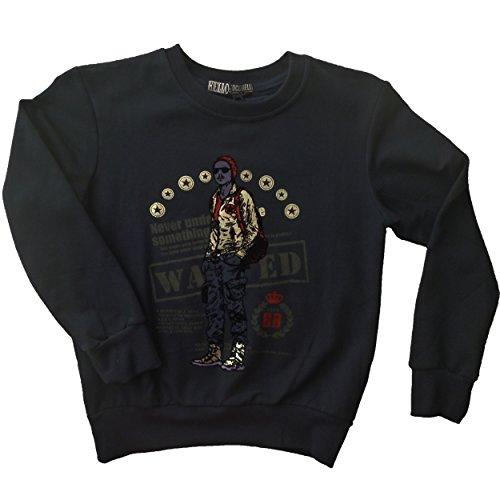 Hello Coccinelli Jungen Sweatshirt blau Grau 128