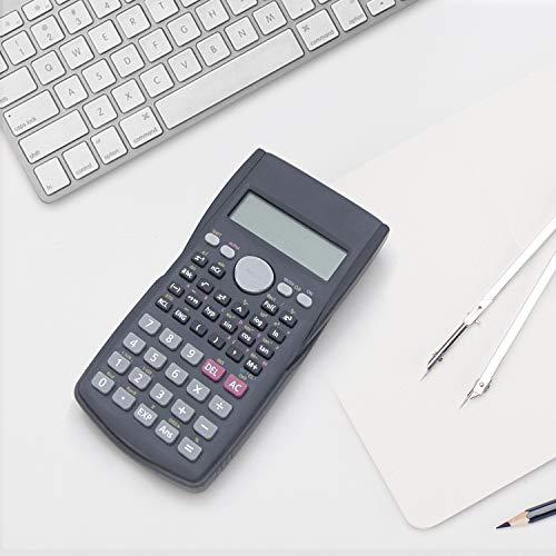 Helect Calculadora Científica de Ingeniería de 2 Líneas, Adecuada Compatible Escuelas y Negocios, Negro