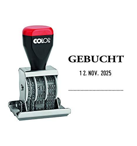 Colop 4200463002 Plaat-datumstempel Geboekt 30 x 45 mm