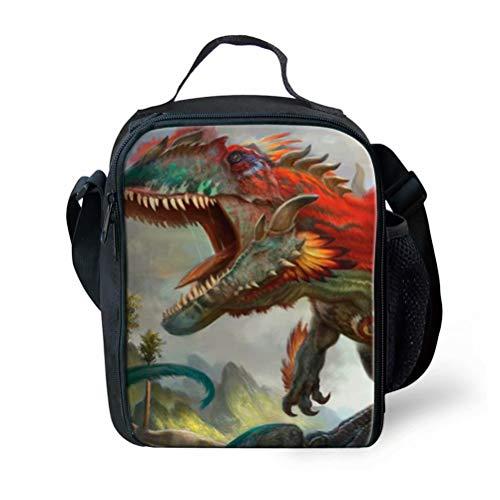 POLERO Isolierte Cooler Lunch Bag Pouch Picknick Aufbewahrungsbox Tyrannosaurus Rex Dinosaurier
