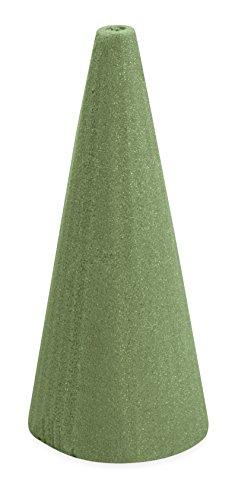 FloraCraft Floral Dry Foam Cone 3.8 Inch x 8.8 Inch Green