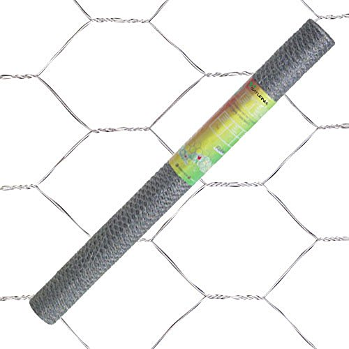Papillon 1172080 Enrejado Triple Torsion 50/100 cm, Rollo 10 m, Uso domestico Metalizado 101x8x8 cm