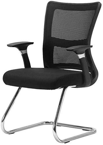 WDX- Krzesło biurowe Krzesło konferencyjne Bow Computer Krzesło Tylne Główne Nowoczesne Proste Siedzicie Ekonomiczne Czarny I Biały Krzesło biurowe Wygodny (Color : Black)