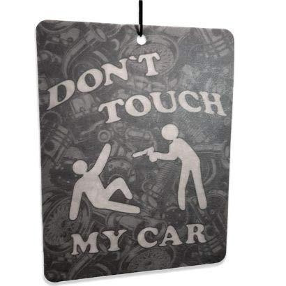 topdesignshop Duftbaum fürs Auto Don`t Touch My Car - Tuning Lufterfrischer lustig Duft Anhänger Air Freshener frisch