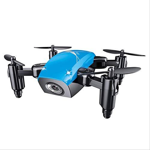 xiaozhu1218 S9. Mini Drone Plegable con Cámara Drone De Bolsillo Micro Drone RC Helicopter con Cámara HD Altitude Hold WiFi FPV Quadcopter Dron Azul sin cámara